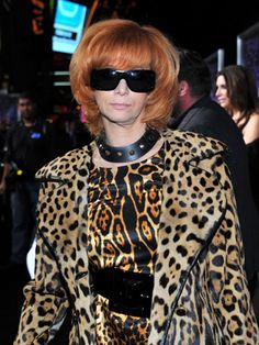 Celebrity Fashion Disasters - Worst Dressed Celebrities - You can never have too much animal print, oh we were wrong.