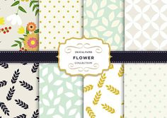 Floral vintage Digital paper by Kristina&Co on Creative Market