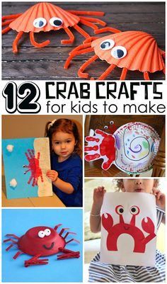 Crab Crafts for Kids to Make this Summer! It would be fun to make these after a trip to the beach. | CraftyMorning.com