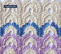 MyPicot is always looking for excellence and intends to be the most authentic, creative, and innovative advanced crochet laboratory in the world. Bag Crochet, Crochet Gratis, Crochet Motif, Crochet Yarn, Free Crochet, Crochet Afghans, Crochet Placemat Patterns, Crochet Stitches Patterns, Stitch Patterns