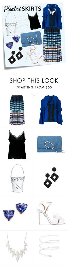 """""""Pleated Skirt..**"""" by purnima0309 ❤ liked on Polyvore featuring Post-It, Mary Katrantzou, Elie Saab, Anine Bing, 3.1 Phillip Lim, Angel Chen, Kenneth Jay Lane, Holly Dyment, Aquazzura and Kendra Scott"""