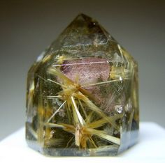 Rutilated Quartz is an illuminator for the soul, promoting spiritual growth.  It cleanses and energises the aura.  Draws off negative energy and disease, letting go of the past.  Rutilated Quartz gives protection against the ill thoughts of others.