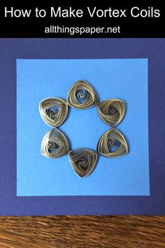 A complete quilling tutorial including the best videos and tips for making unusual, but beautiful vortex coils. Paper Quilling Patterns, Quilling Designs, Quilling Art, Diy Paper, Paper Art, Paper Crafts, Quilling Tutorial, Rock Art, Wire Wrapping