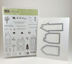 Stampin Up Holiday Home Stamps & Homemade Holiday Framelits Dies NEW #StampinUp