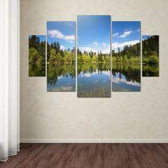 'Lake Maix' by Philippe Sainte-Laudy 5 Piece Canvas Art Set