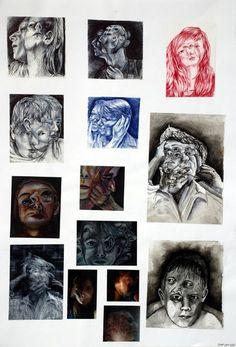 double images A Level Art Sketchbook, Sketchbook Layout, Sketchbook Ideas, Advanced Higher Art, Art Alevel, Ap Studio Art, Art Folder, Aberdeen, Identity Art