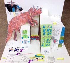 초3 초2 초2 초2 초2 초2 초2 공룡 화석과 모기 만들기!^^ 그리고 공룡이 나타났어요~~!!!!!!!! 주제를 연... Arts And Crafts Projects, Projects For Kids, Diy For Kids, Crafts For Kids, Third Grade Art, Pop Up, Up Book, Art Programs, City Art