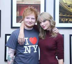 Pin for Later: 18 Times Taylor Swift and Ed Sheeran Fully Embodied Your #FriendshipGoals When They Posed Backstage at Madison Square Garden Ed and Taylor had their arms around each other before his concert in November 2013.