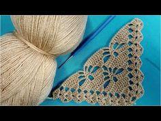 Crochet Flower Squares, Crochet Flower Tutorial, Crochet Triangle, Crochet Flowers, Poncho Crochet, Col Crochet, Crochet Stitches, Crochet Tablecloth, Crochet Doilies