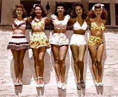 Swimwear beauties, 1940s