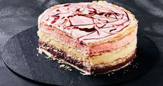 We've given the classic vanilla slice the Neapolitan treatment and turned it into a colourful cake. This is a retro revisited dessert recipe the whole family will love.