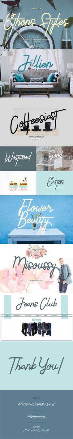 Ethons Styles - Script Fonts #font #fontspiration