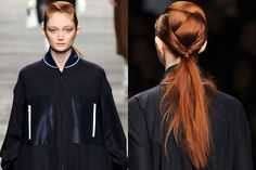 This origami-like ponytail from the Fendi Fall 2014 runways is STELLAR.