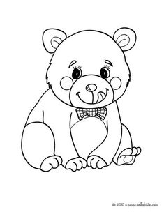 Kawaii Bear Coloring Page Hellokids Fantastic Collection Of FOREST ANIMALS Pages Has Lots To Print Out Or Color Online You