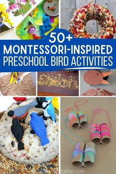 Over 50 Creative Montessori-inspired Activities for a Preschool Bird Unit Study - or just find fun bird activities for your bird loving child. Math, practical life, arts and crafts, and more. Montessori Preschool, Preschool At Home, Preschool Crafts, Educational Activities For Kids, Sensory Activities, Engage In Learning, Kids Learning, Practical Life, Study