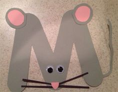 letter m mouse craft for kids kids will love making this cute mouse out of the letter m and the pieces from our printable template