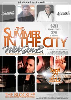 """""""The Summer In The City"""" with Jon B. in Philly @ The Blockley!!  Sunday!! September 2nd, 2012"""