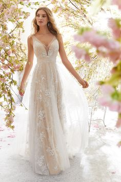 Mori Lee Bridal 6896 wedding dress available at The Castle. We are an authorized retailer for all Mori Lee Bridal dresses and every 6896 is brand new with all original tags! Bodice Wedding Dress, Tulle Wedding, Bridal Wedding Dresses, Wedding Dress Styles, Designer Wedding Dresses, Ethereal Wedding, Mori Lee Wedding Dress, Wedding Beach, Whimsical Wedding