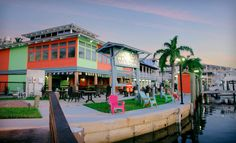 Pirate's Cove Resort and Marina– Stuart, FL ~ Almost everything about Pirate's Cove caters to the coastal lifestyle, from an onsite bait-and-tackle shop and fuel station to the upscale seafood restaurant that overlooks the marina.