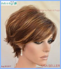 Avery Estetica Classique Synthetic Short Wig CLR Rmcaramel Kiss *make Best OFFER for sale online Cute Hairstyles For Short Hair, Trending Hairstyles, Bob Hairstyles, Straight Hairstyles, Short Brown Hair, Short Hair Cuts, Short Hair Styles, Short Wigs, Pixie Haircut