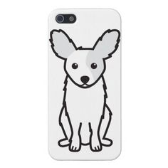 Papillon Dog Cartoon Cover For iPhone 5