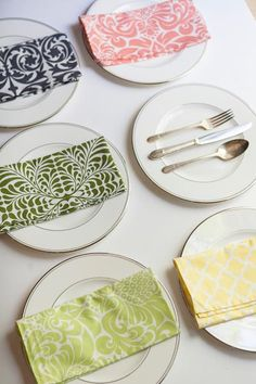 Brighten Up Every Day | Dinner Napkins by Hen House Linens
