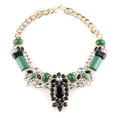 Keen on Green Necklace, SGD22.90. This jewel encrusted necklace is great for days when you can't think of what to wear, yet need to dress to impress! Match with our Keen on Green Earrings.Do check out our shop trystjewels.com for more designs.