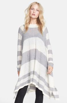 Free People 'Lafayette' Stripe Alpaca Blend Poncho available at #Nordstrom