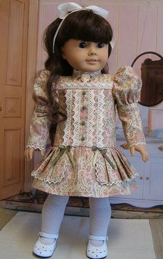 From the keepers Archives: 1904 Fancy Frock! American Doll Clothes, Ag Doll Clothes, Doll Clothes Patterns, Clothing Patterns, Doll Patterns, American Girl Doll Samantha, American Girl Accessories, America Girl, Girl Dolls