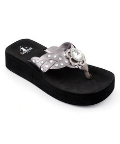 5998fdc2e75719 Love this Pewter Clair Flip-Flop by Corky s Footwear on  zulily!   zulilyfinds