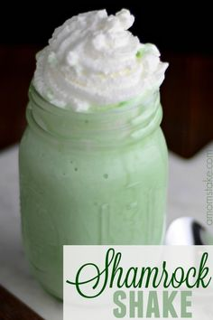 My favorite holiday to plan recipes for is St. Patrick's day! It's so fun to try to create a recipes, snacks, or desserts around a green theme! One of our favorites to serve on St. Patrick's day is our easy mint Shamrock Shake! It takes just 4 easy ingredients and a minute or two to whip up and then it's