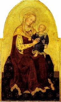 Madonna and Child Enthroned, c. 1420,  Samuel H. Kress Collection, Washington. Gentile da Fabriano | Podere Santa Pia, Holiday house in the south of Tuscany