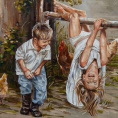 Jy is onderste bo! - House Of Maria ZA Beautiful Drawings, Beautiful Artwork, Classic Paintings, Art Paintings, Art Google, Canvas Art Prints, Art For Kids, Original Artwork, Fine Art