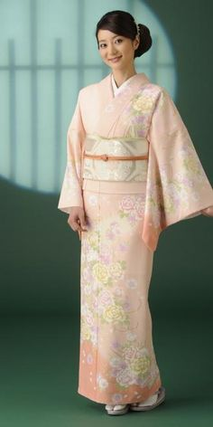 訪問着レンタル(牡丹・桜)(ピンク) No.K-13 Japanese Costume, Japanese Kimono, Japanese Outfits, Japanese Clothing, Ethnic Outfits, Traditional Dresses, Traditional Japanese, Married Woman, Yukata