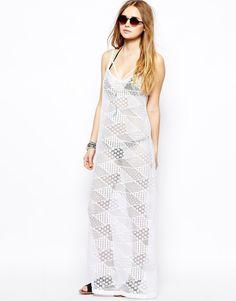 ASOS Geo Lace Maxi Trapeze Beach Dress