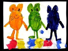 cute idea... have mice standing in puddles of 2 colors!!!! Mouse paint