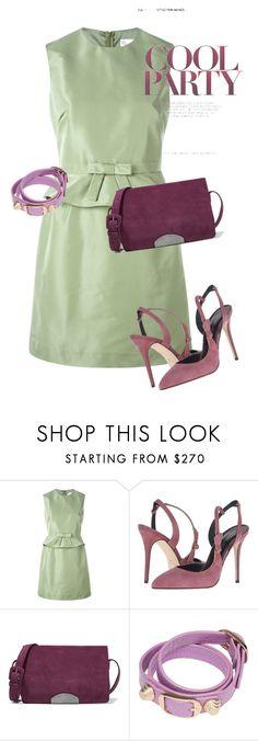 """dress"" by masayuki4499 ❤ liked on Polyvore featuring RED Valentino, Oscar de la Renta, Maison Margiela and Balenciaga"