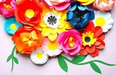 Happy bouquet, paper flowers