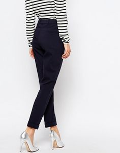 Whistles Sadie Slim Leg Trousers. Cotton-mix woven fabric. High-rise waistline. Concealed fly. Functional pockets. Slim fit - cut close to the body. Dry clean. 53% Cotton, 42% Polyamide, 5% Elastane