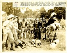TRADER HORN (1931) - Harry Carey,Duncan Renaldo and Mutia Omoolu in the cannibal village ...