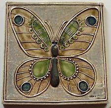 BUTTERFLY  Vintage Wall Tile LISA LARSON GUSTAVSBERG SWEDEN 1971