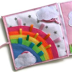 Quiet book PAGE busy book sensory toy for kids with rainbow