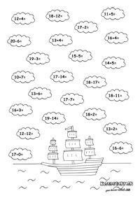 Sčítavanie a odčítavanie do 20 - Nasedeticky. Kindergarten Math Worksheets, Math Equations, Words, Homeschooling, Fit, Activities, Shape, Horse, Homeschool