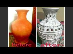 Mud and mirror work on pot/lippan kaam Mirror Crafts, Vase Crafts, Mirror Art, Clay Wall Art, Mural Wall Art, Clay Art, Indian Arts And Crafts, Diy Arts And Crafts, Bottle Painting