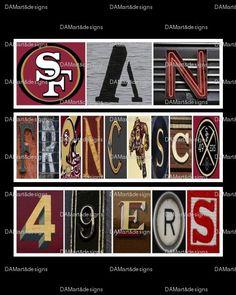 San Francisco 49ers Framed Alphabet Photo Art by DAMartndesign, $39.00