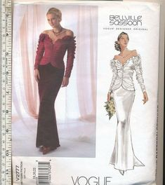 VOGUE SEWING PATTERN 1535 MISSES 14-22 BADGLEY MISCHKA DRESS W// ATTACHED CAPE