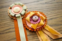 use up my stash of ribbons and buttons