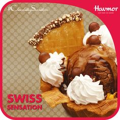 The lust of Swiss Chocolate and the soft sensation of cream are rendered tenderly into a delicacy served exclusively at the Hav Funn Parlour.