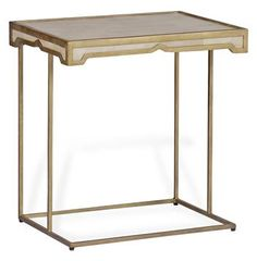 Carson Hollywood Regency Deco Shagreen Horn Side Table