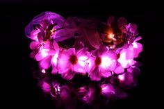 Magic Daisy LED Light Up Flower Crown Headband-Pink